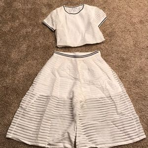 Bar III White Two Piece Outfit